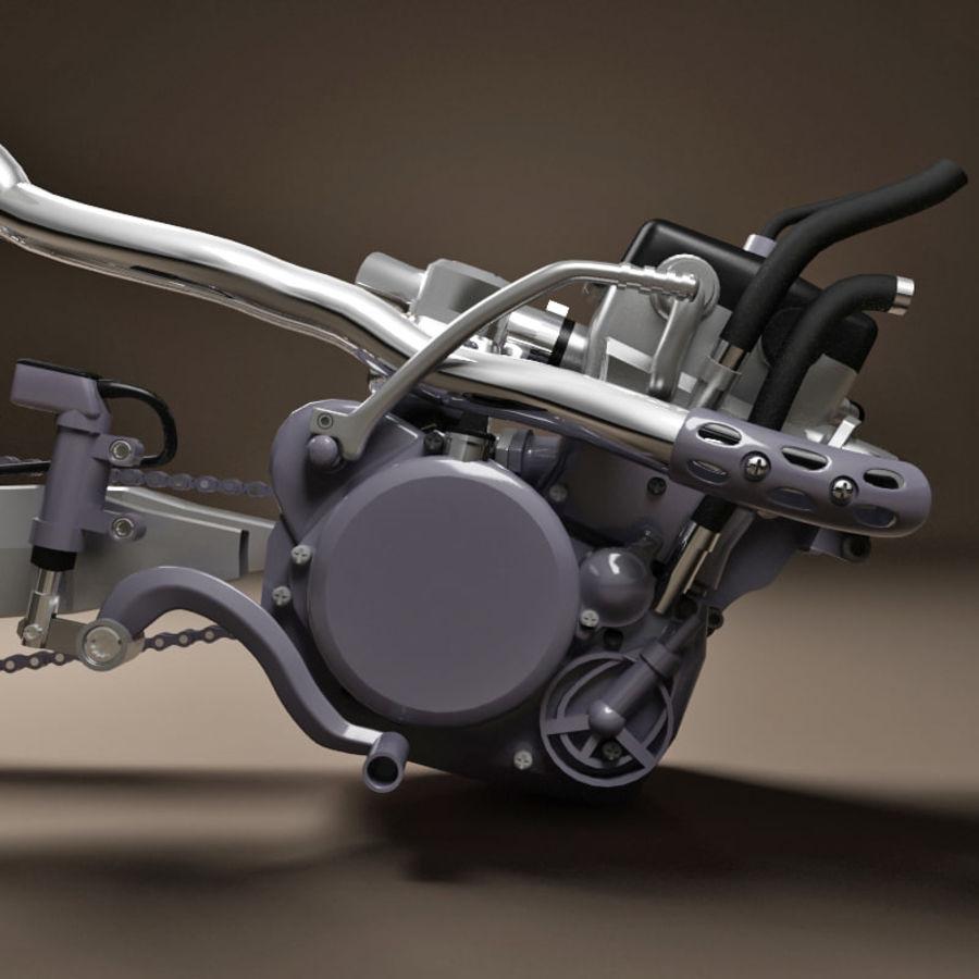 Motorbike engine V2 royalty-free 3d model - Preview no. 17