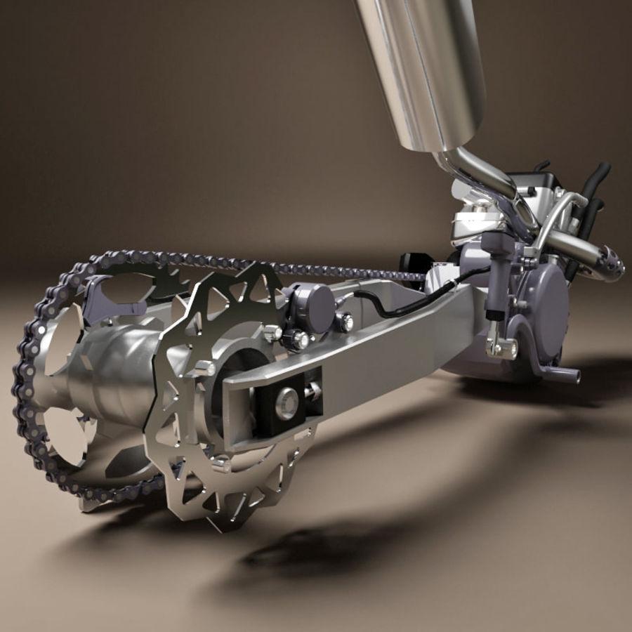 Motorbike engine V2 royalty-free 3d model - Preview no. 15