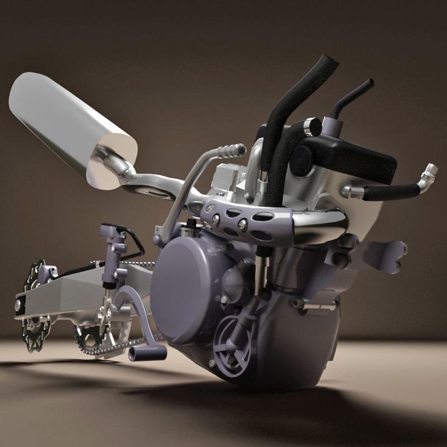 Motorbike engine V2 royalty-free 3d model - Preview no. 7