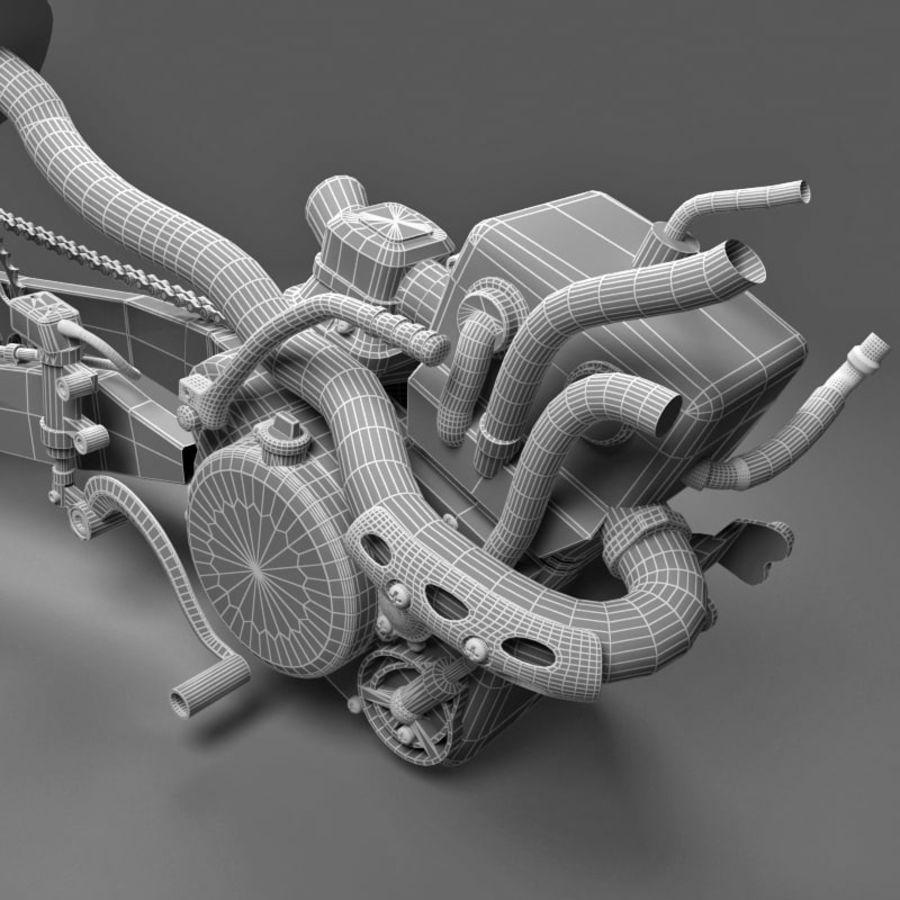 Motorbike engine V2 royalty-free 3d model - Preview no. 24