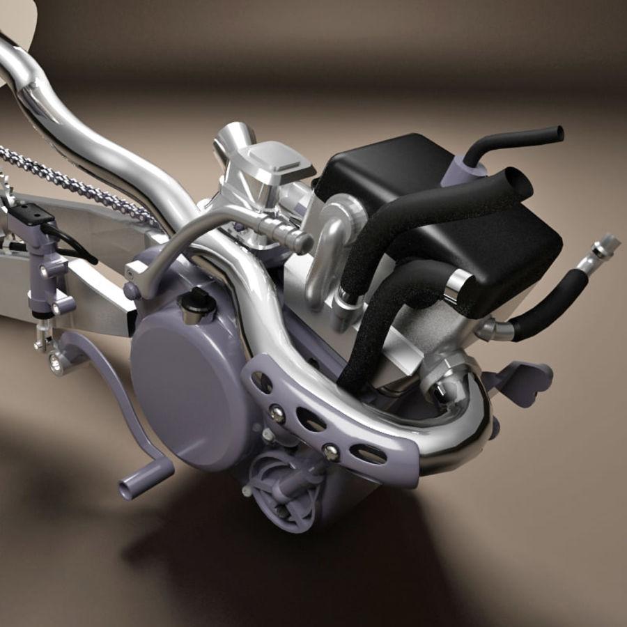 Motorbike engine V2 royalty-free 3d model - Preview no. 14