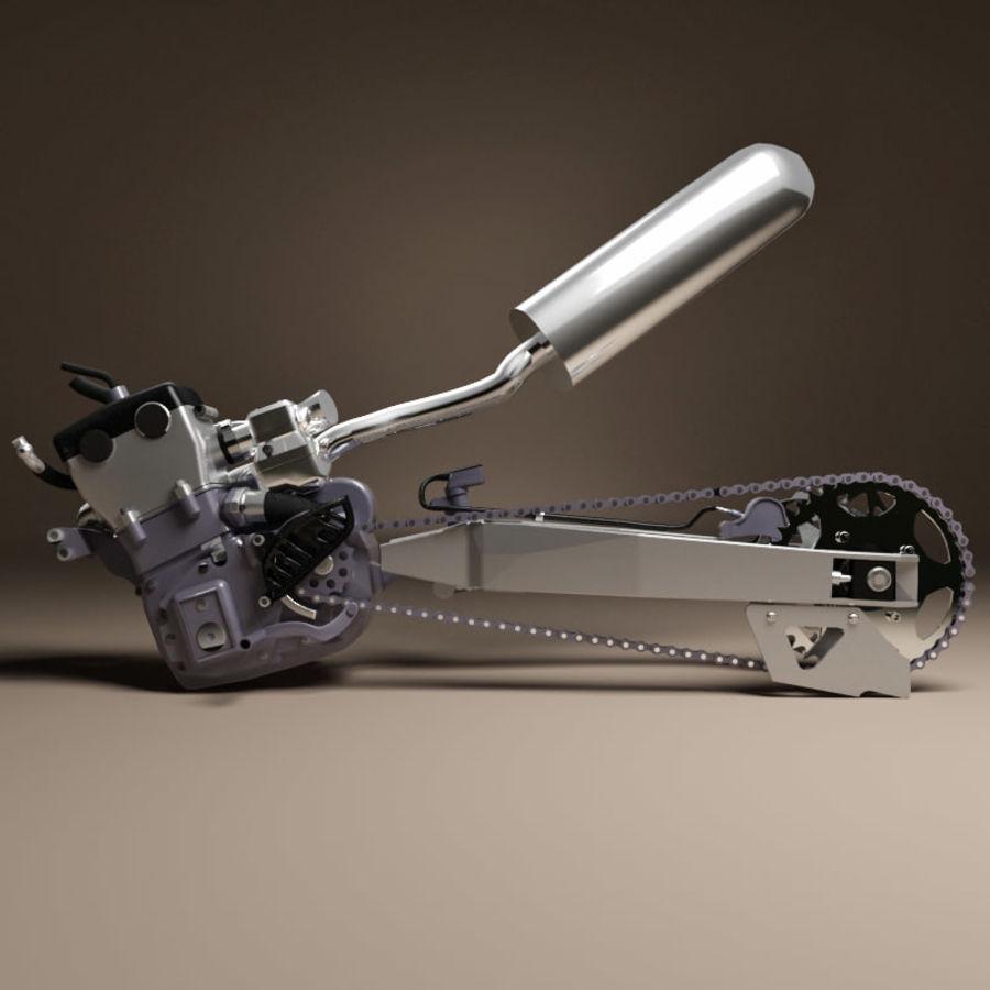 Motorbike engine V2 royalty-free 3d model - Preview no. 5