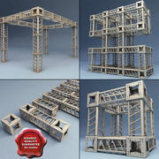 Steel Truss collection V3 3d model