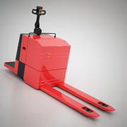 Electric warehouse pallet jack 3d model