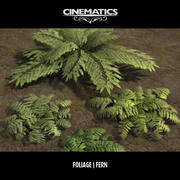 Low Poly Fern Collection 3d model