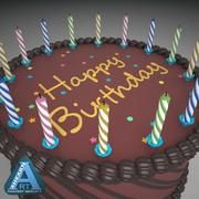 Birthday Cake Chocolate 3d model
