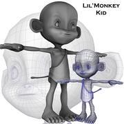 Little Monkey Kid 3d model