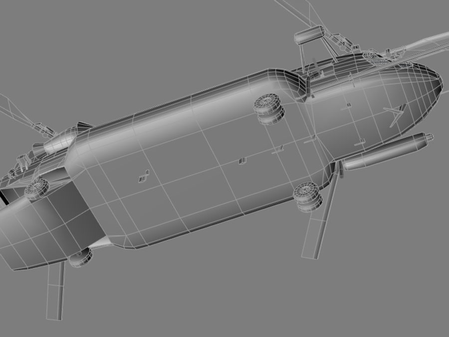 CH-47E SOA US Special Forces transport helicopter game model royalty-free 3d model - Preview no. 11