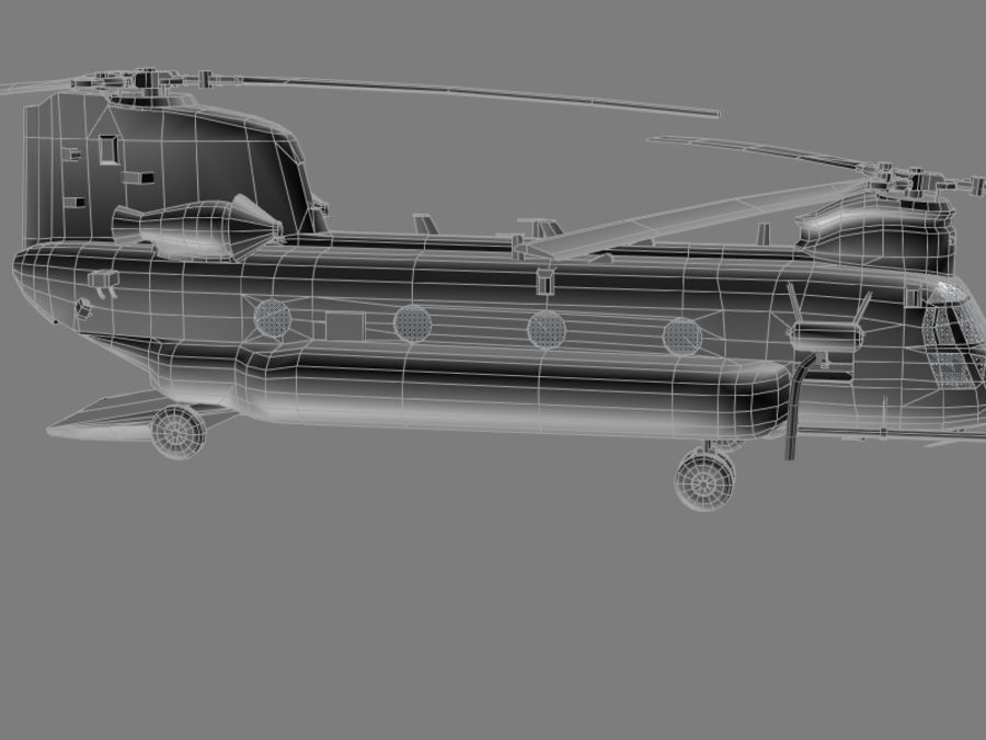 CH-47E SOA US Special Forces transport helicopter game model royalty-free 3d model - Preview no. 10