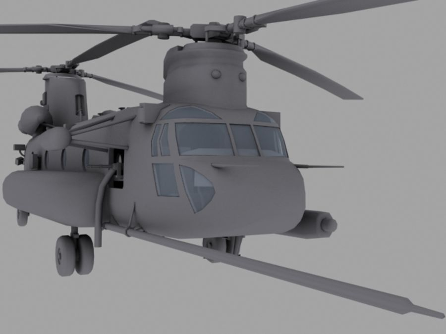 CH-47E SOA US Special Forces transport helicopter game model royalty-free 3d model - Preview no. 1