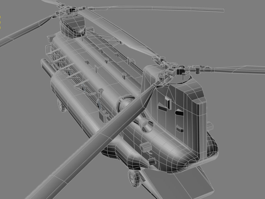 CH-47E SOA US Special Forces transport helicopter game model royalty-free 3d model - Preview no. 9