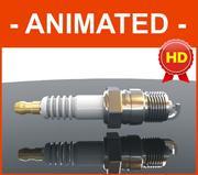 Свеча зажигания текстурированная / анимированная / HD 3d model