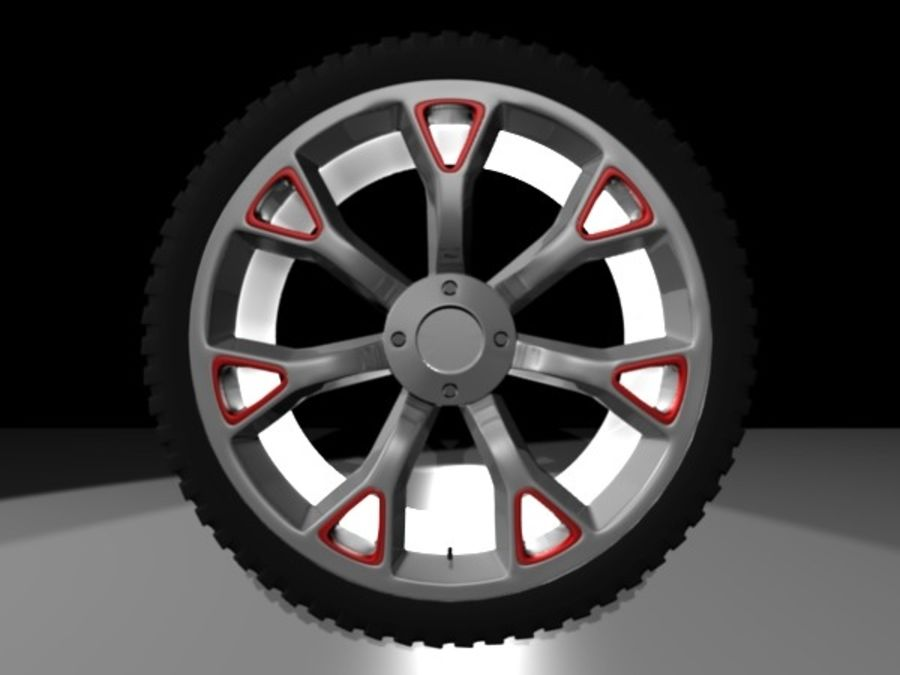 Generic car  wheel royalty-free 3d model - Preview no. 5