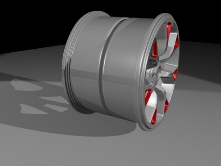 Generic car  wheel royalty-free 3d model - Preview no. 6