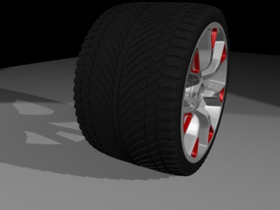 Generic car  wheel royalty-free 3d model - Preview no. 1