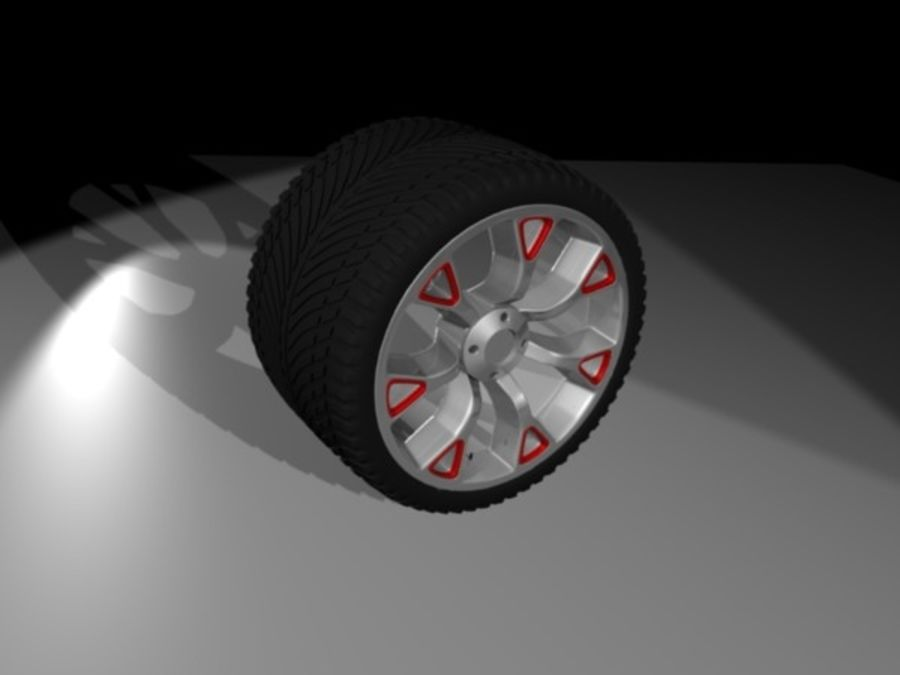 Generic car  wheel royalty-free 3d model - Preview no. 3