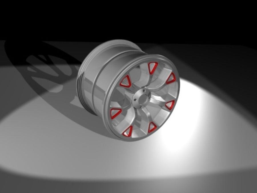 Generic car  wheel royalty-free 3d model - Preview no. 4