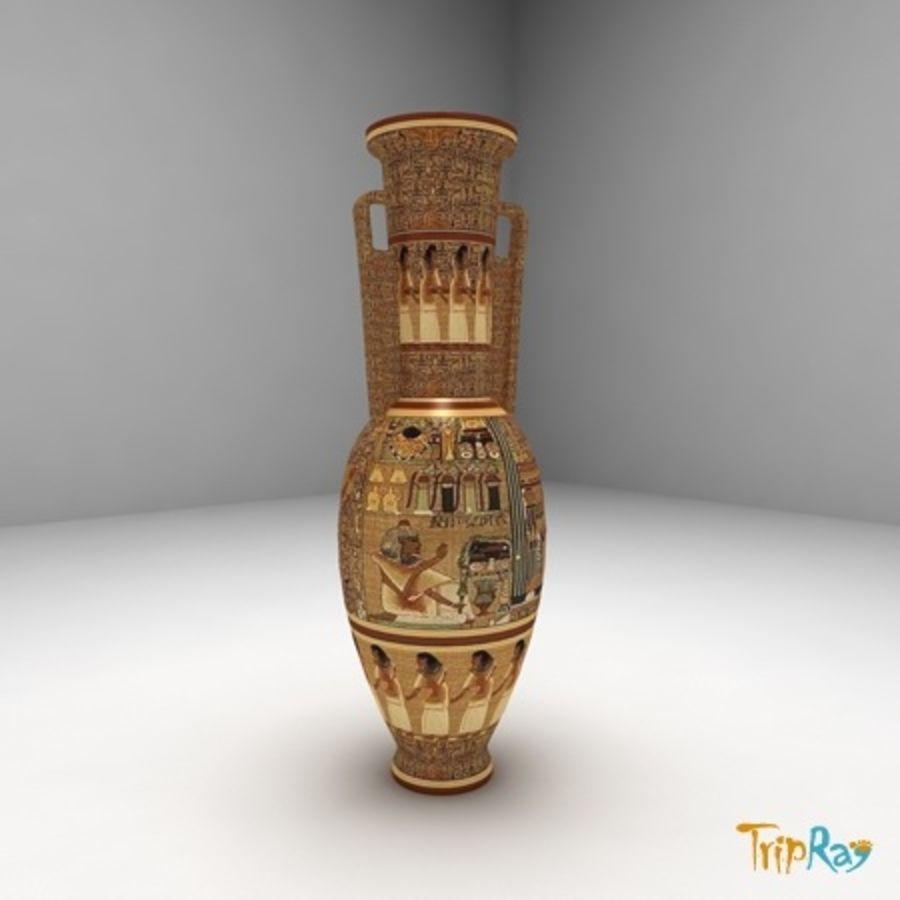 Wazon Egipt royalty-free 3d model - Preview no. 1