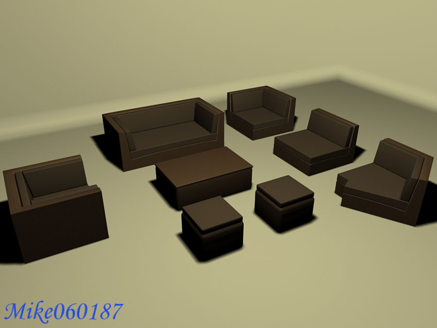 Collezione di divani royalty-free 3d model - Preview no. 2