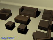 Sofa Furnitures Collection 3d model