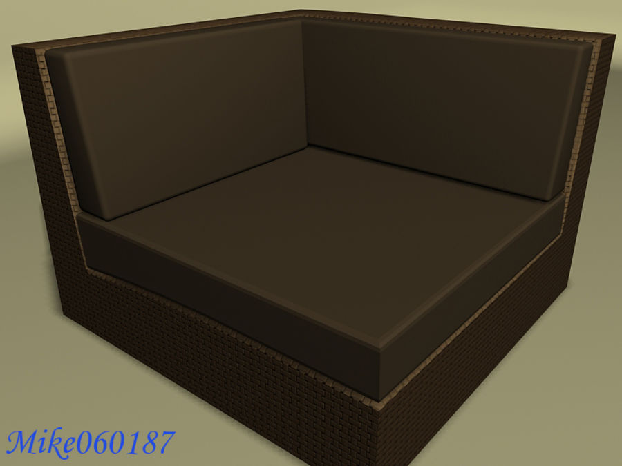 Collezione di divani royalty-free 3d model - Preview no. 3