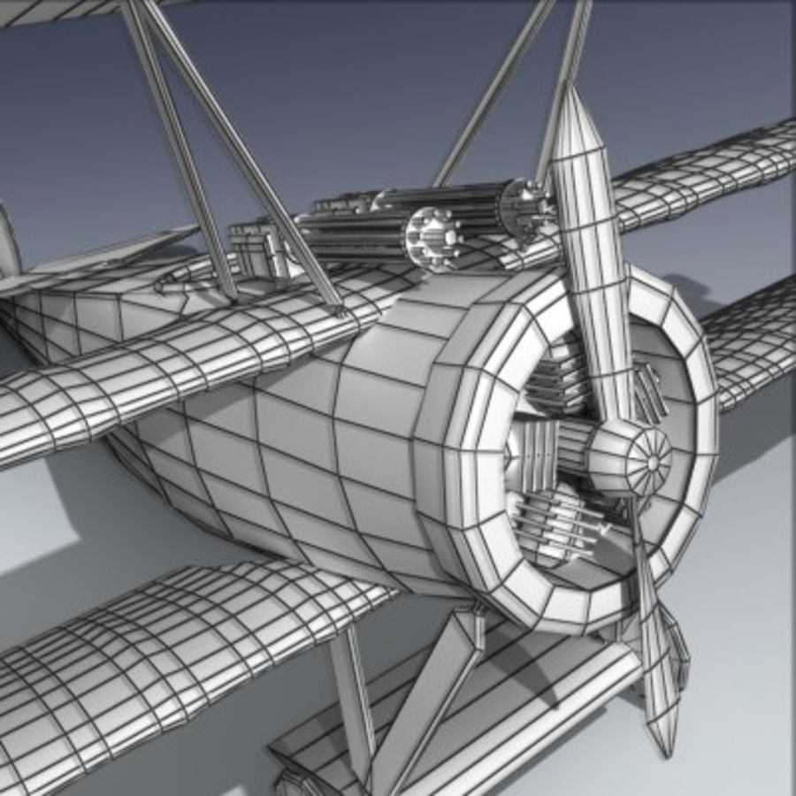Fokker Triplane royalty-free 3d model - Preview no. 7