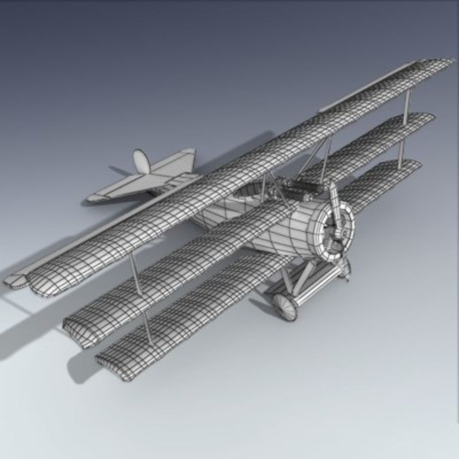 Fokker Triplane royalty-free 3d model - Preview no. 6