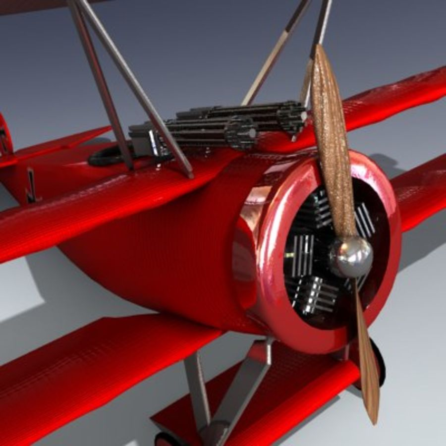 Fokker Triplane royalty-free 3d model - Preview no. 2
