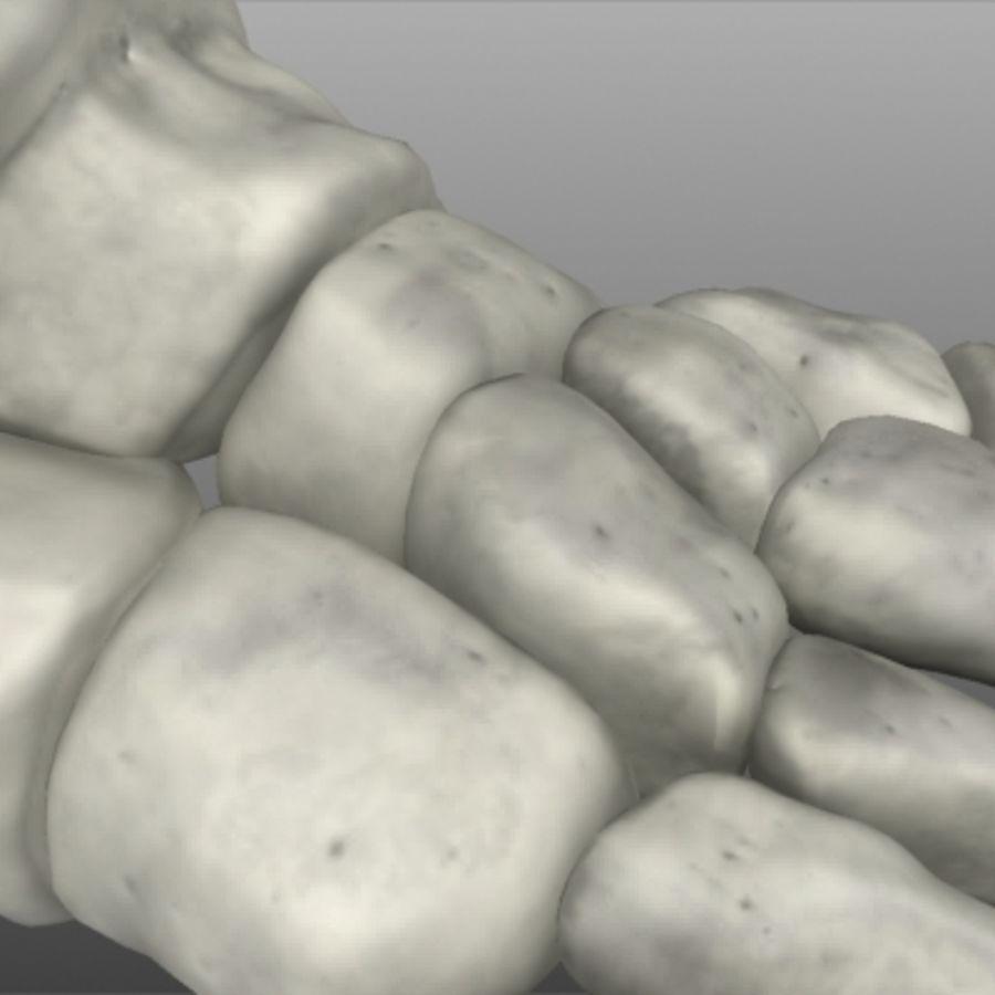 Huesos del pie humano royalty-free modelo 3d - Preview no. 10