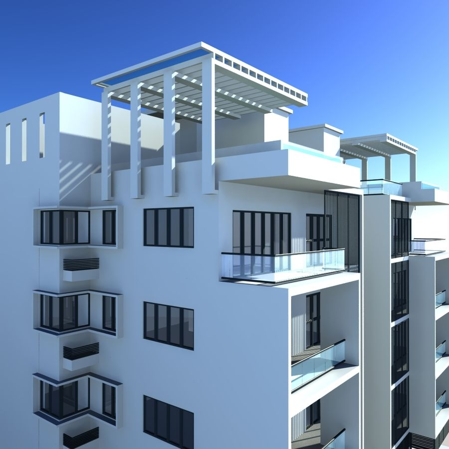 Condominio royalty-free modelo 3d - Preview no. 6
