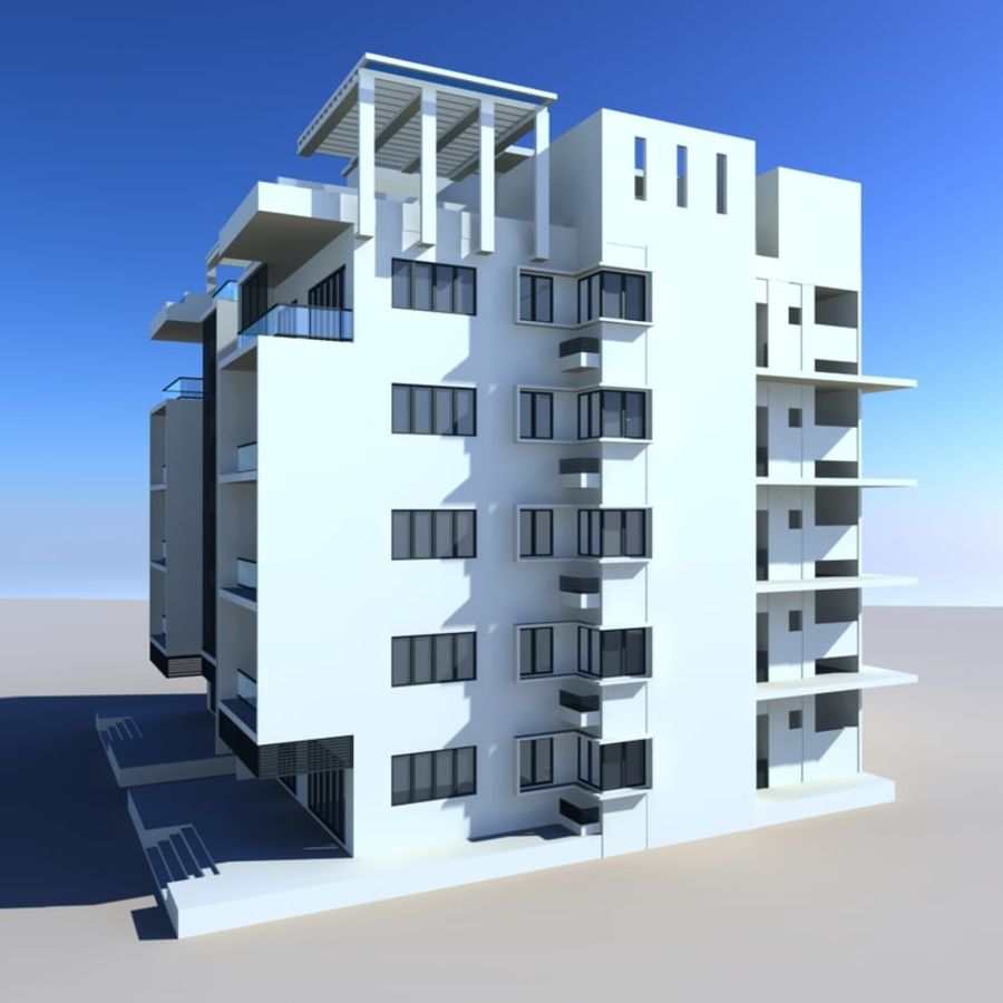 Condominio royalty-free modelo 3d - Preview no. 3