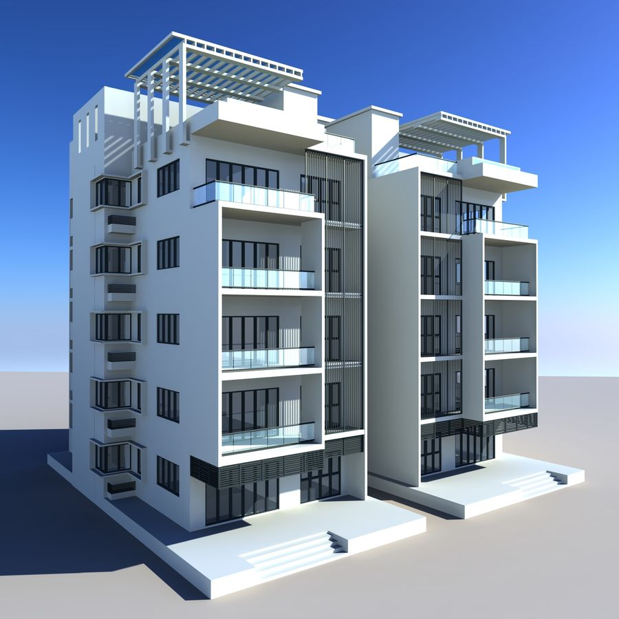 Condominio royalty-free modelo 3d - Preview no. 1