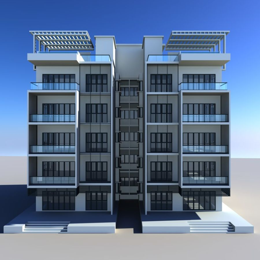 Condominio royalty-free modelo 3d - Preview no. 2