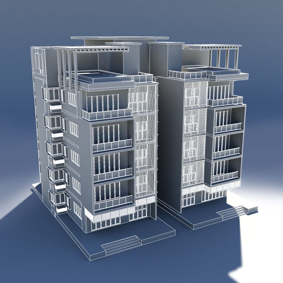 Condominio royalty-free modelo 3d - Preview no. 5