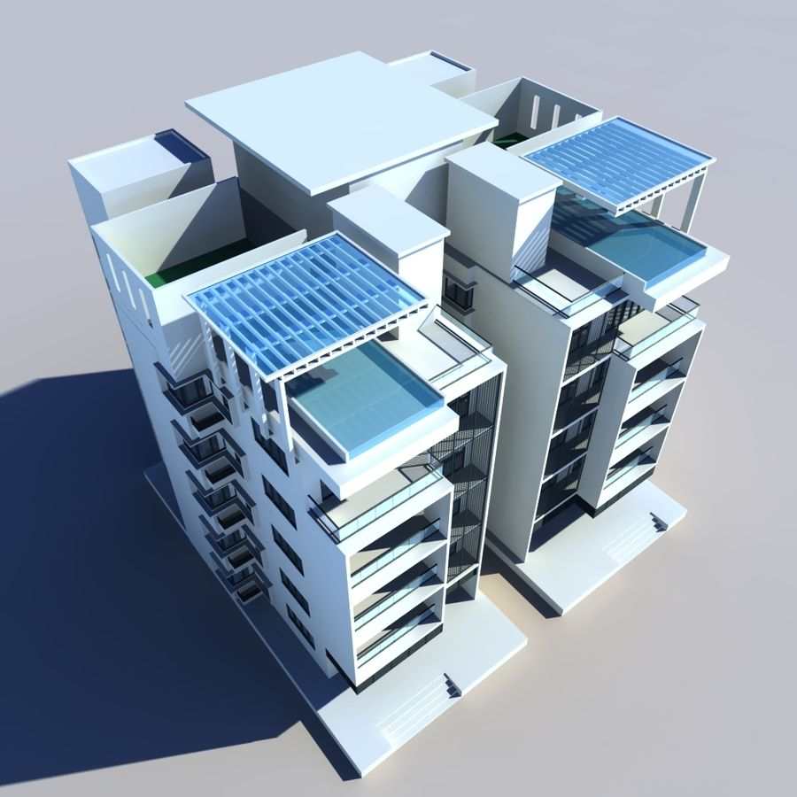 Condominio royalty-free modelo 3d - Preview no. 4