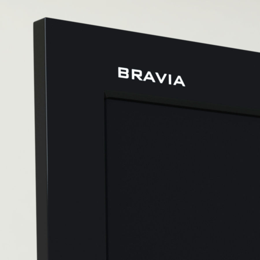 sony bravia KDL-46EX700 royalty-free 3d model - Preview no. 4
