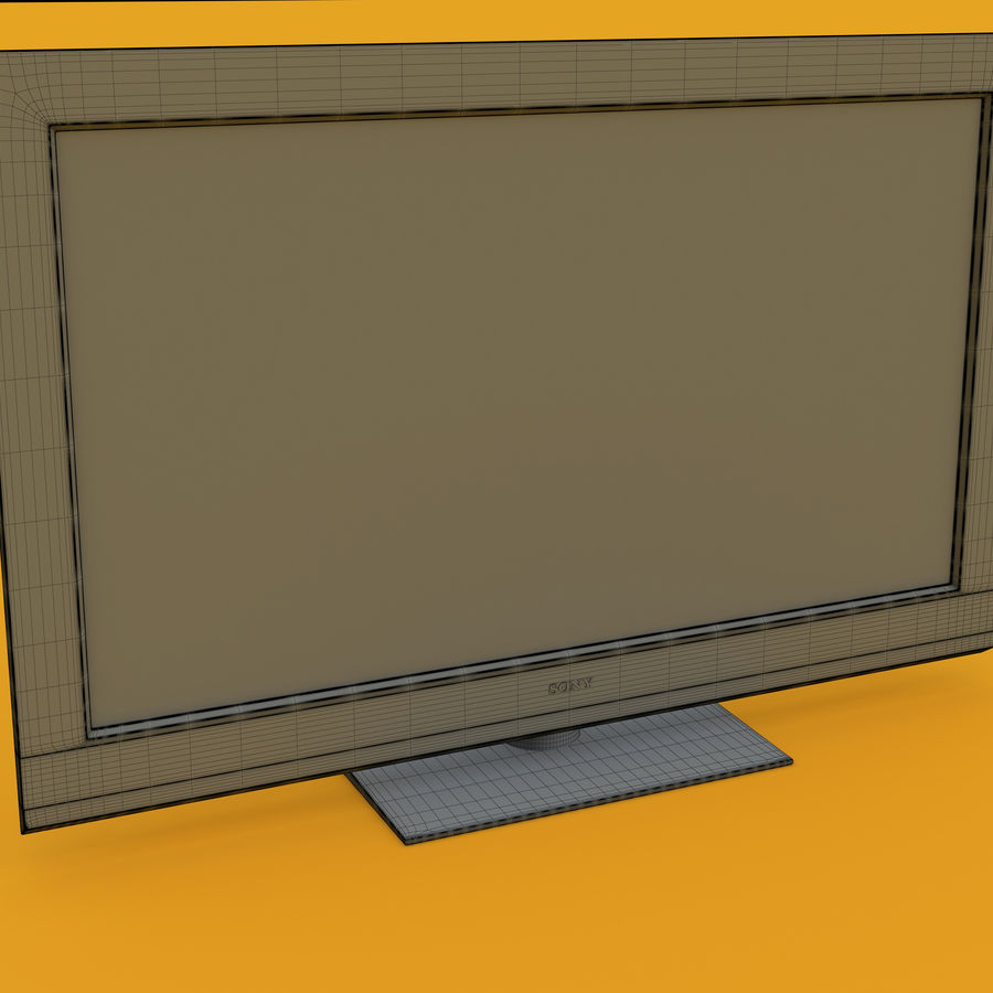 sony bravia KDL-46EX700 royalty-free 3d model - Preview no. 5