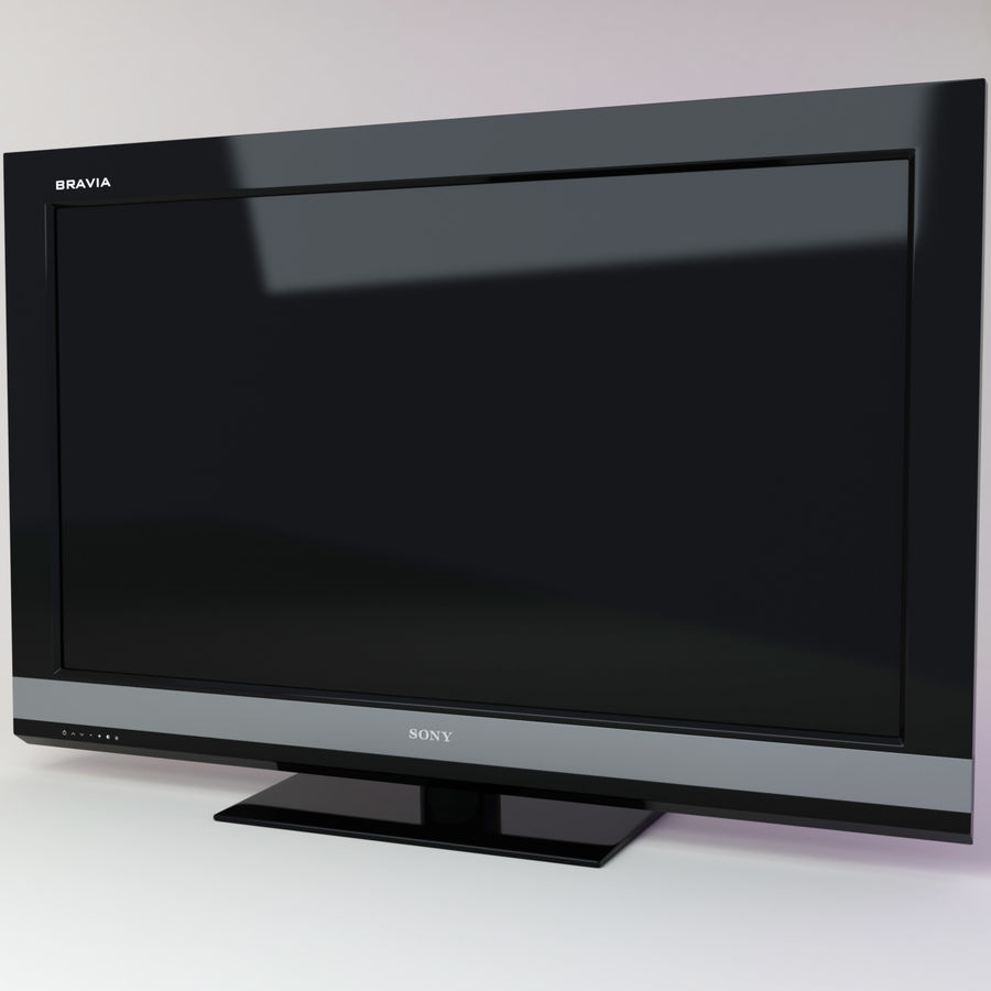 sony bravia KDL-46EX700 royalty-free 3d model - Preview no. 1