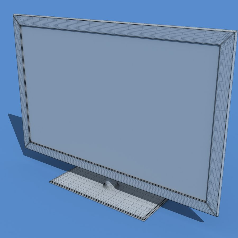 Samsung LED TV UE40B7020 royalty-free 3d model - Preview no. 3