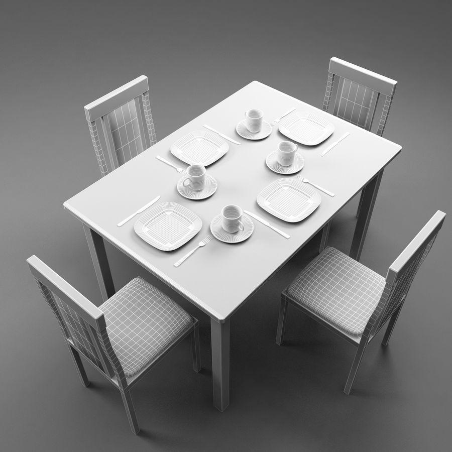 Tavoli Da Cucina Design.Tavolo Da Cucina E Sedia Modello 3d 19 Obj Max Fbx 3ds Free3d