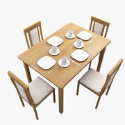 Kitchen Table & Chair 3d model
