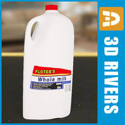 Milk bottle by 3DRivers 3d model