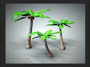Palm Tree Trio 3d model
