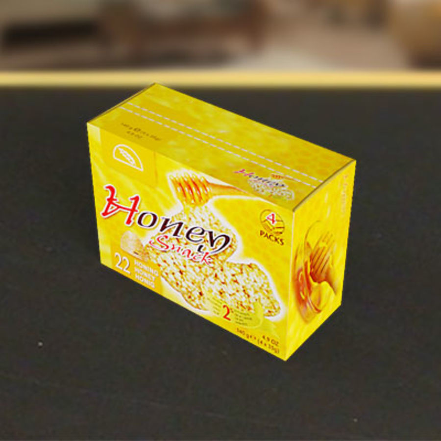 Box av Granco mellanmål av 3D Rivers royalty-free 3d model - Preview no. 2