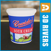 Sour cream pack by 3DRivers 3d model