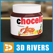 Chocolate Spread jar by 3DRivers 3d model