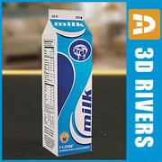 Milk bottle 02 by 3DRivers 3d model