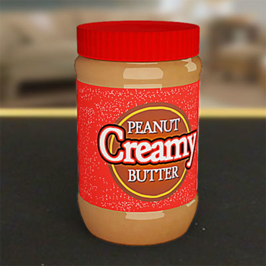 Peanut butter jar by 3DRivers royalty-free 3d model - Preview no. 4