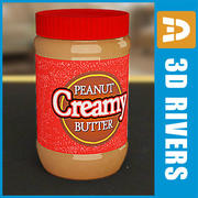 Peanut butter jar by 3DRivers 3d model