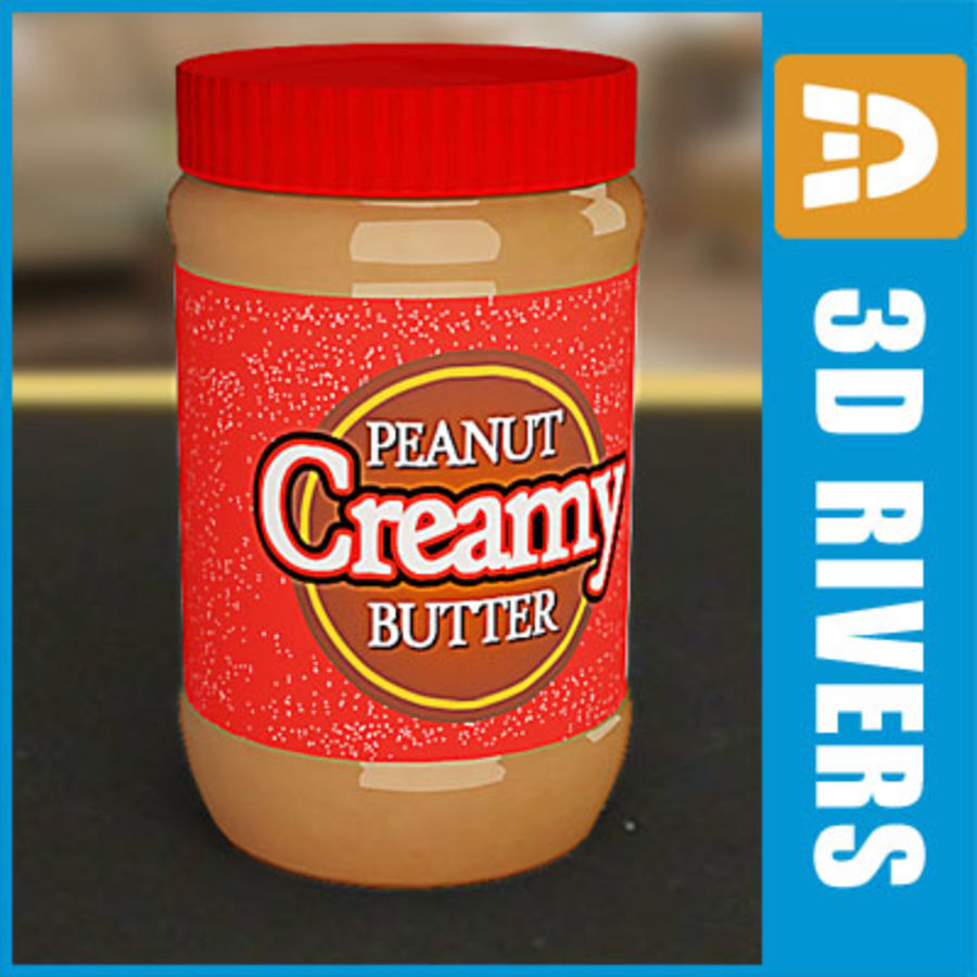Peanut butter jar by 3DRivers royalty-free 3d model - Preview no. 1